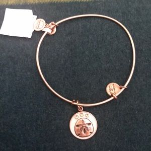 Alex and ani sand dollar on rose gold